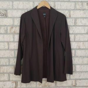 Eileen Fisher Wool Blend Open Front Blazer